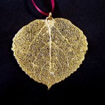 Aspen Leaf Ornaments Gold