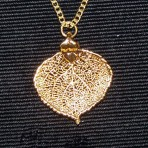 Aspen Leaf Necklace Gold Lace