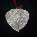 Aspen Leaf Ornaments Silver