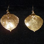 Aspen Leaf Earrings Gold Solid